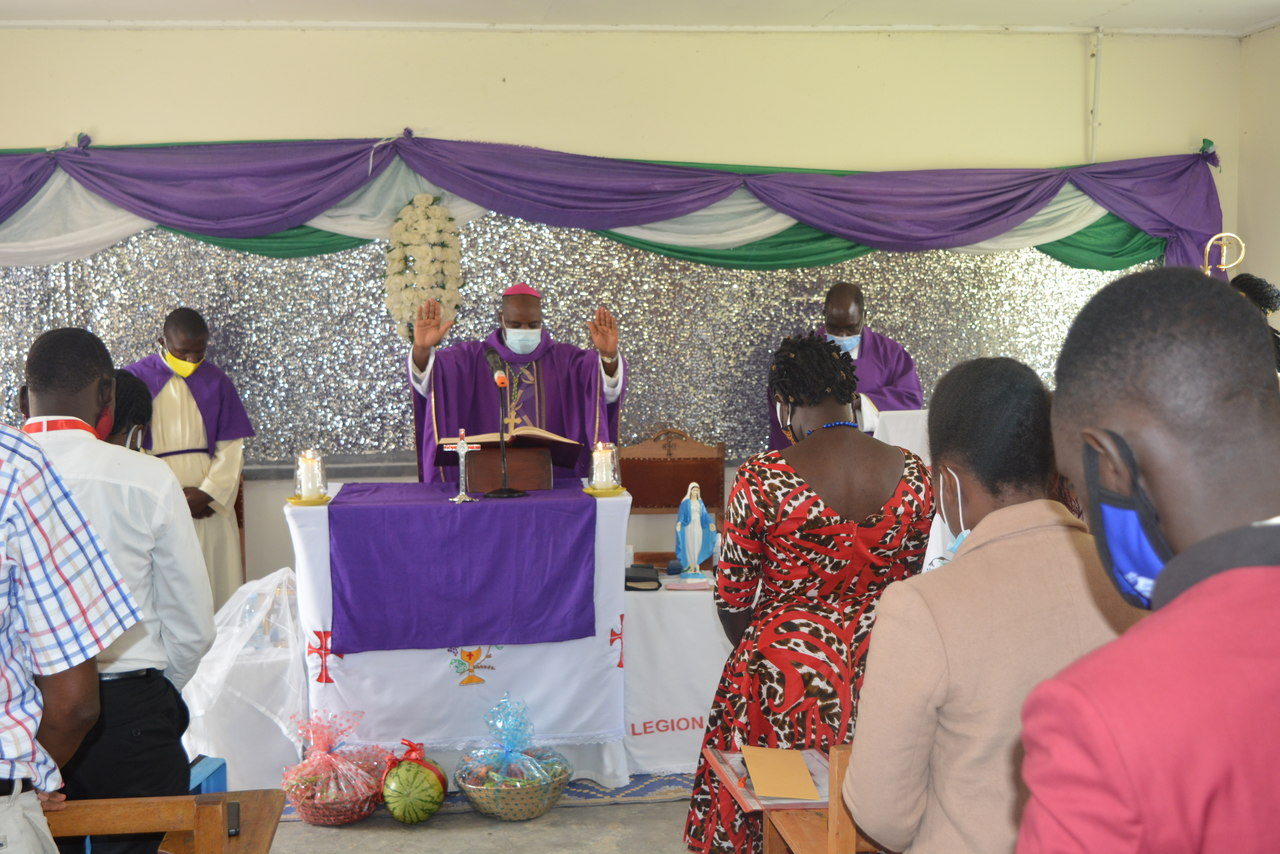 Archbishop of Mbarara Archdiocese (Roman Catholic Church) - His Grace Lambert Bainomugisha visits Bishop Stuart University