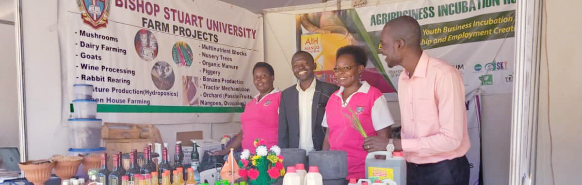 Bishop Stuart University exhibits in the first East African Science, Technology and innovation conference at Speke Resort Munyonyo.